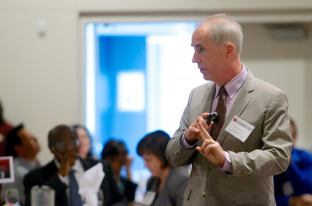 Keynote speaker Ken O'Donnell discusses faculty high-impact practices.