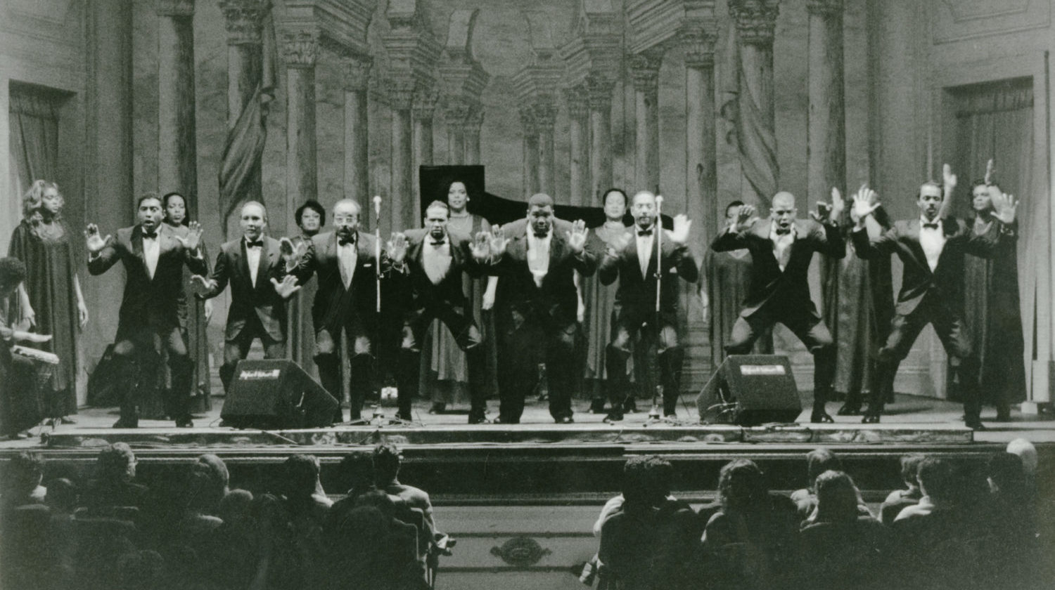 The Albert McNeil Jubilee Singers in Italy in 1996.