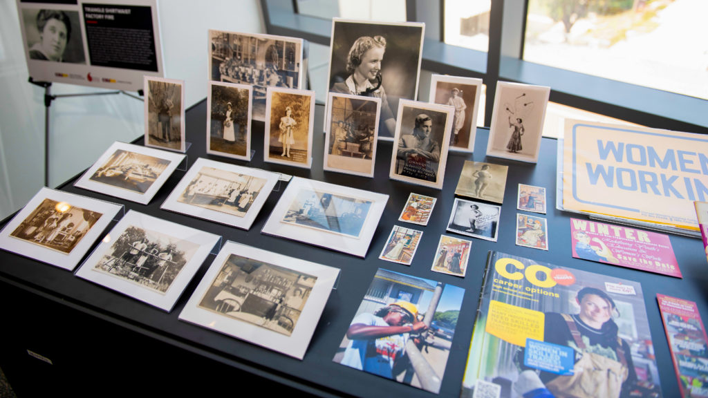 Display of historic and contemporary images.