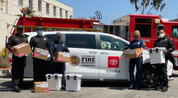 Nursing students partner with LAFD in vaccine rollout